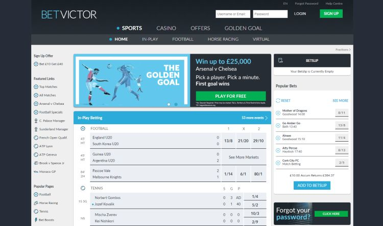 BetVictor review bookmaker