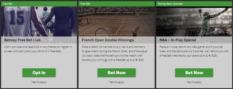 betway review bookmaker promotions