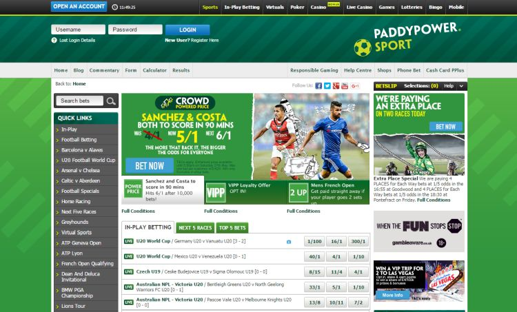 paddy power review screenshot